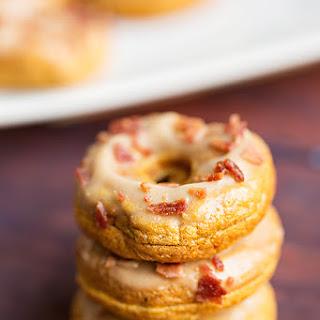 Pumpkin Spice Donuts w/ Maple Glaze & Turkey Bacon