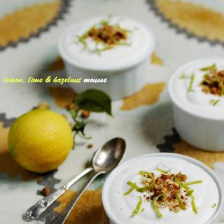 Lemon Mousse with Lime, Ginger & Hazelnuts.