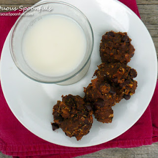 Double Chocolate Oatmeal Zucchini Cookies.