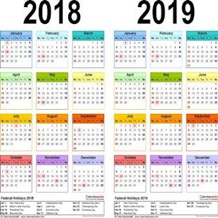 التقويم الميلادي 2018 - náhled