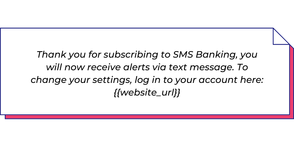 Use this financial service WhatsApp template to send welcome messages.