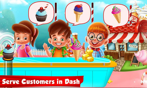 Ice Cream Cone Cupcake Factory: Candy Maker Games 1.0 screenshots 2