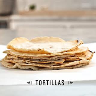 Homemade Corn Tortillas.