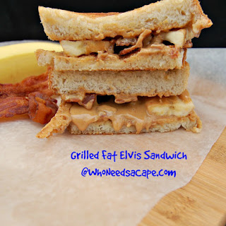 Grilled Fat Elvis Sandwich