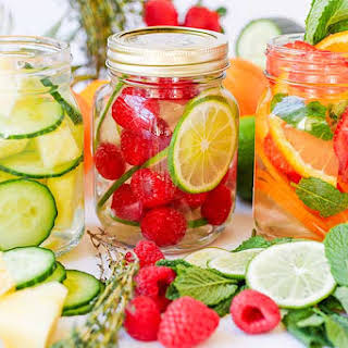 Berry, Peach & Coconut Infused Water.
