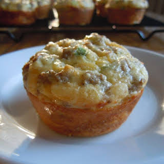 Sausage Cheese Egg Muffins.