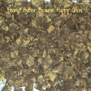 Peanut Butter Brownie Puppy Chow