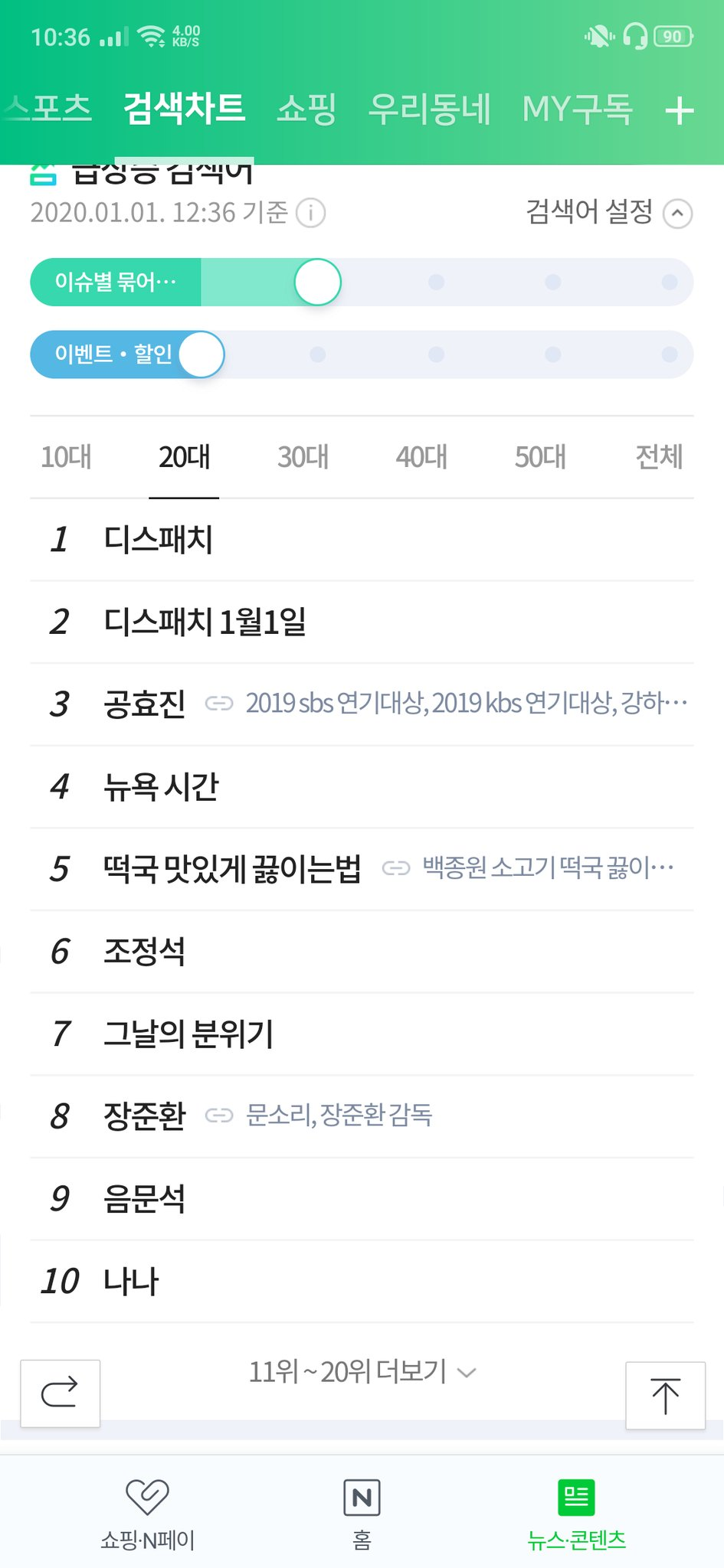 dispatch trending korea