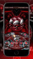 screenshot of Red Blood Skull 3D Theme