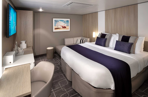 A comfortable, affordable Inside Stateroom on Celebrity Edge.