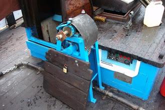 Photo: Het oude stuurwiel is afgevoerd