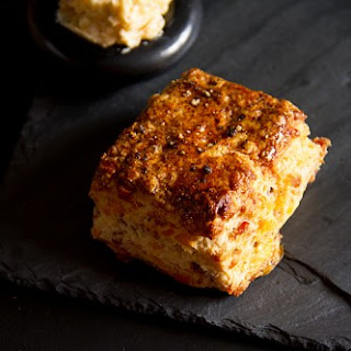 Bacon Cheddar Biscuits with Maple Chile Butter