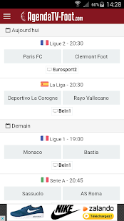 Agenda TV Foot Capture d'écran