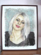 Photo: 135, Нетронина Наталья, портрет, шерсть, акрил, вискоза(шерстяная акварель), 25х20см,