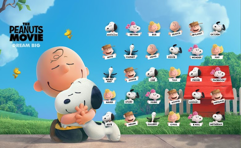 android Snoopy and Charlie Brown theme Screenshot 0