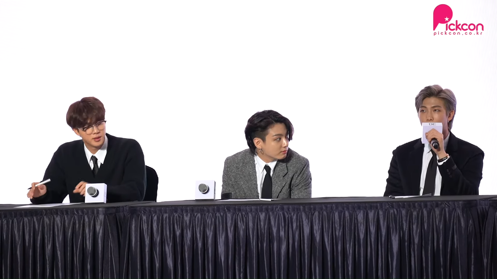 bts rm jungkook jin be press conference 1