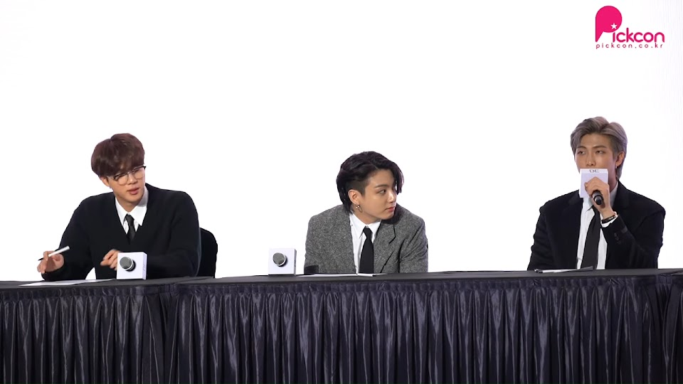 bts rm jungkook jin be press conference 1