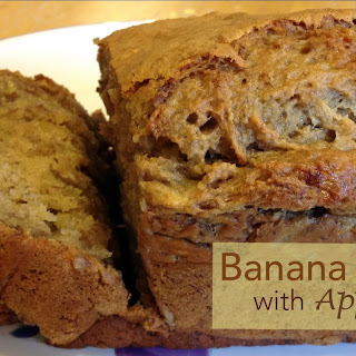 Healthy Banana Bread with Applesauce.