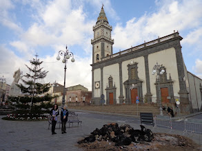 Photo: Pedara main square and the town's mother church