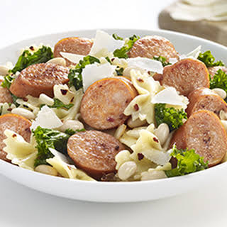 Sausage, White Bean and Kale Bow Ties.