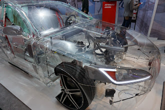 Photo: TRW transparent car shows sensors