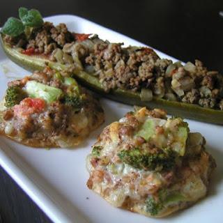 Stuffed Zucchini With Buckwheat Patties