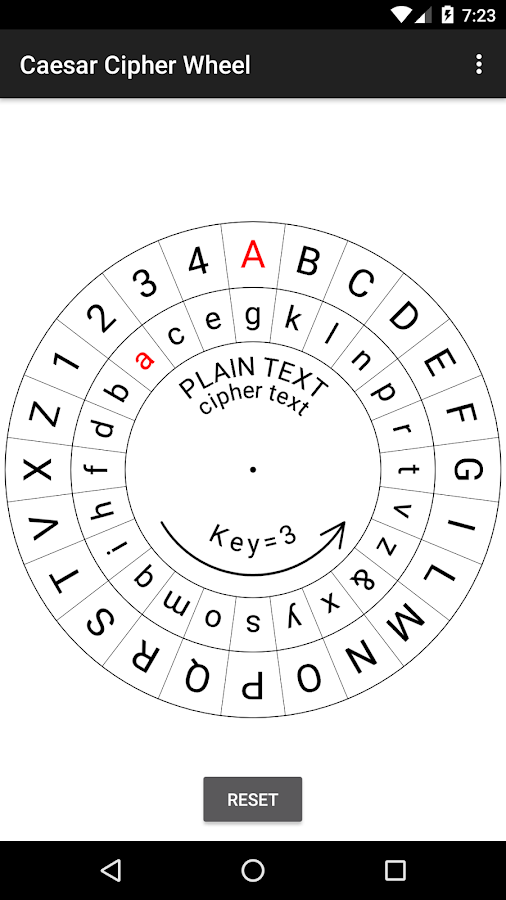 Caesar Cipher Disk- screenshot