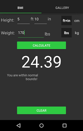BMI Calculator On The Go