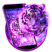 Purple Galaxy Tiger Theme