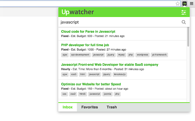 Upwatcher. Upwork job watcher.