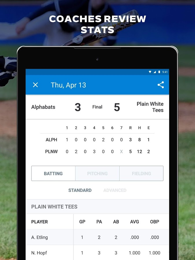 GameChanger Baseball & Softball Scorekeeper- screenshot