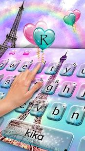 Dreamy Eiffel Tower Keyboard Theme - náhled