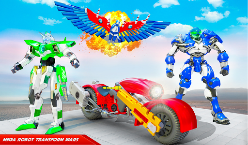 Flying Police Eagle Bike Robot Hero: Robot Games 29 screenshots 9