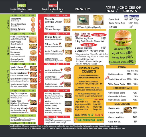 Da Pizza Maker menu 1