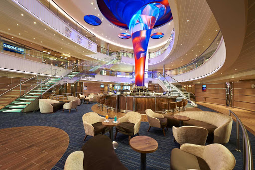 The Atrium is the place to meet Carnival Panorama guests and make new acquaintances.