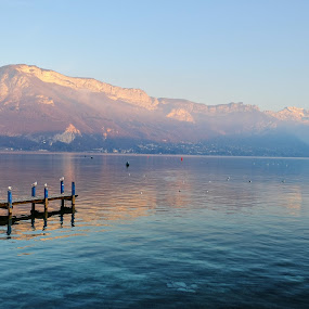 Lac d'Annecy by Catherine Guerenne - Landscapes Waterscapes ( moutain lake, lac d'annecy, alps, annecy, lake,  )
