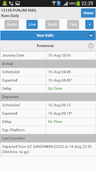 Indian Rail PNR Enquiry and Live