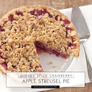 Ginger Spice Cranberry Apple Streusel Pie Recipe