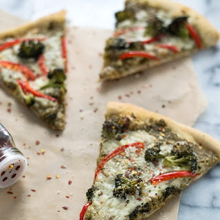 Roasted Broccoli Pesto Pizza