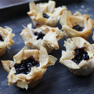 Easy Cheesy Blueberry Tartlets.