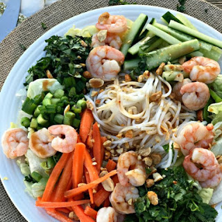 Thai Shrimp & Rice Noodle Salad.