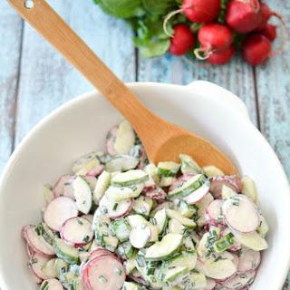 5 Ingredient Cucumber Radish Salad.