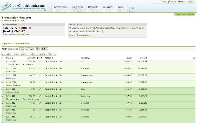 clearcheckbook money management chrome web store