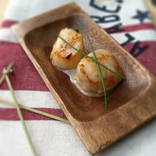 Seared Scallops With Whiskey Cream Sauce.