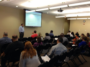 Photo: Seth Rand leads the workshop on driving more people to your website