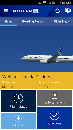 United Airlines Screenshot