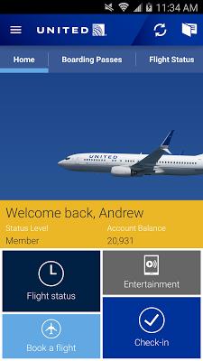 United Airlines - screenshot