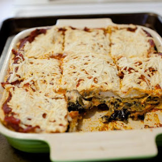 The Vegan Rika Eggplant-Mushroom-Spinach-Zucchini Lasagna.
