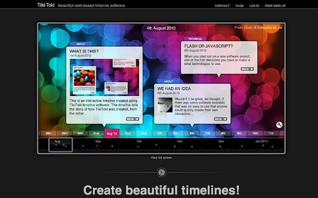 Tiki Toki Timeline Software