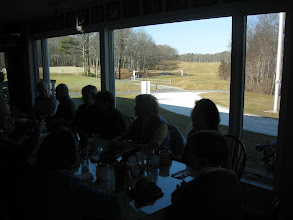 Photo: 2-18-2012. Winter luncheon at Sandwich Hollows Clubhouse Restaurant. Great view! A portion of our new court is visible on the left.